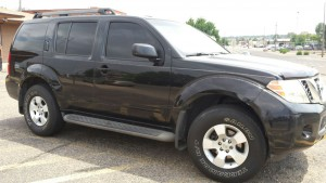 2008 Nissan Pathfinder right front angle